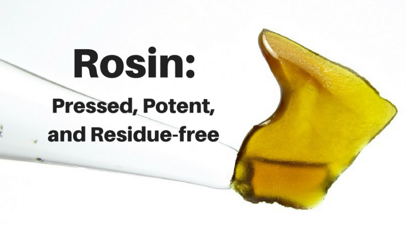 Cannabis rosin offers a chemical-free alternative to BHO.